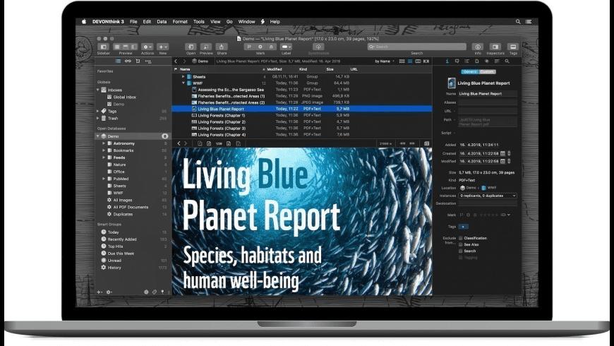 DEVONthink Standard for Mac - review, screenshots