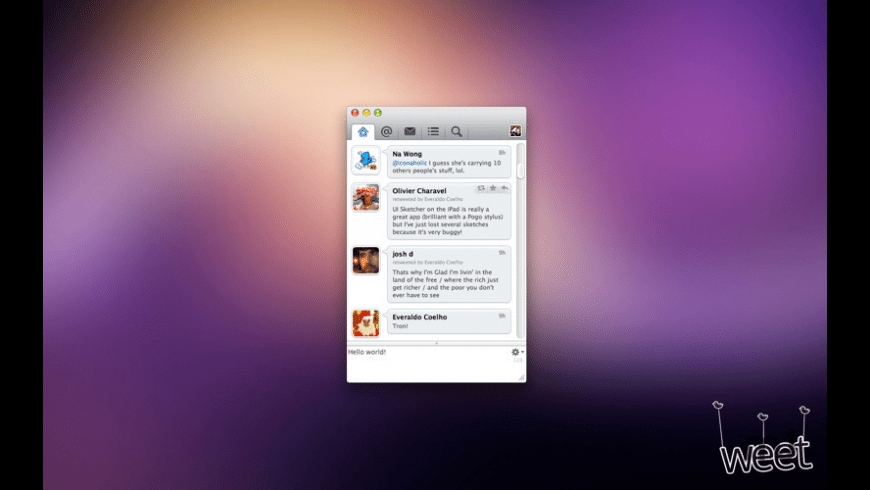 Weet for Mac - review, screenshots
