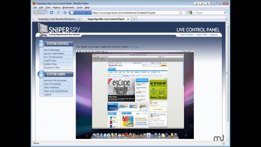 SniperSpy Mac for Mac - review, screenshots
