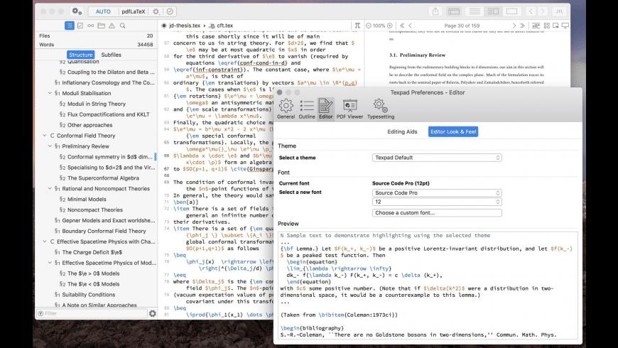 Texpad for Mac - review, screenshots