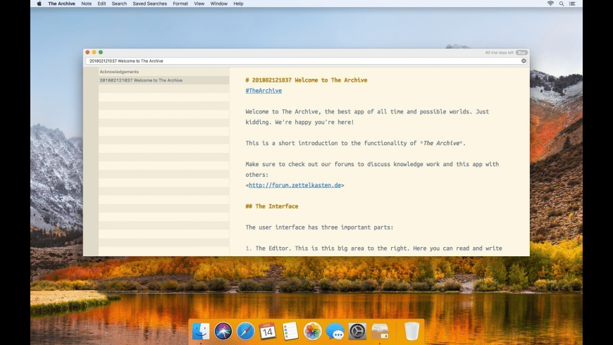 The Archive for Mac - review, screenshots
