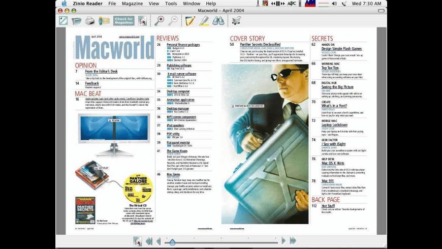 Zinio Reader for Mac - review, screenshots