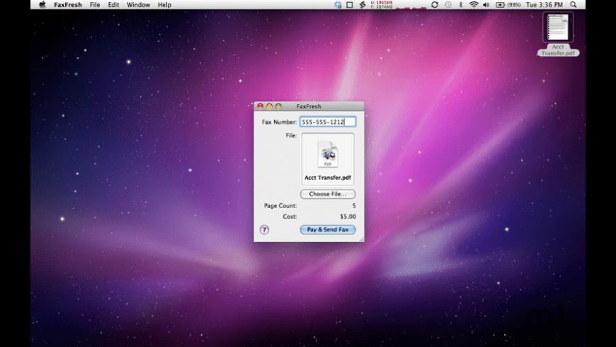 FaxFresh for Mac - review, screenshots