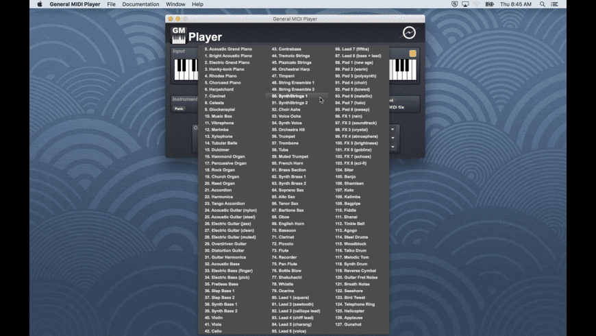 General MIDI Player for Mac - review, screenshots