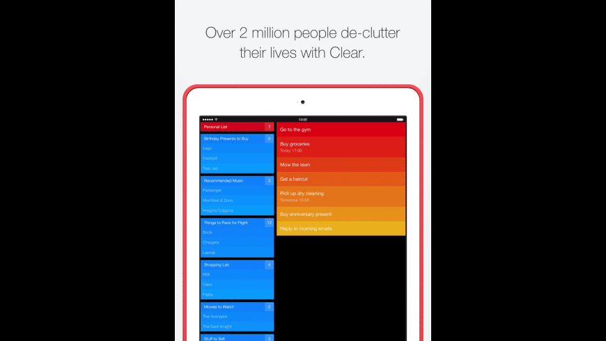 Clear Todos for Mac - review, screenshots