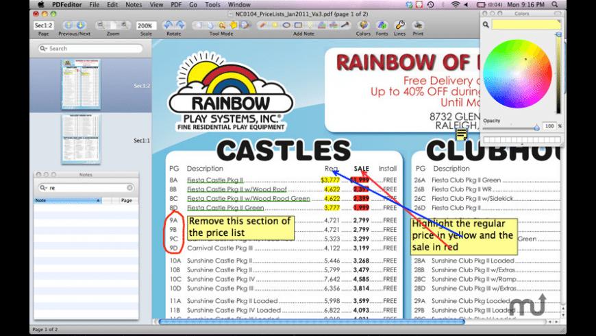 PDF Editor for Mac - review, screenshots