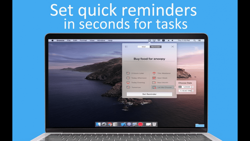 Snooze for Mac - review, screenshots