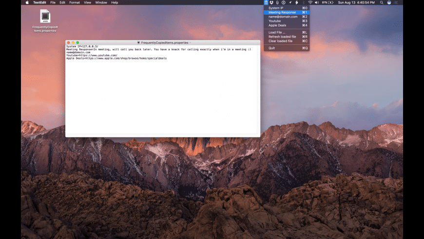 Quick Text Copy for Mac - review, screenshots