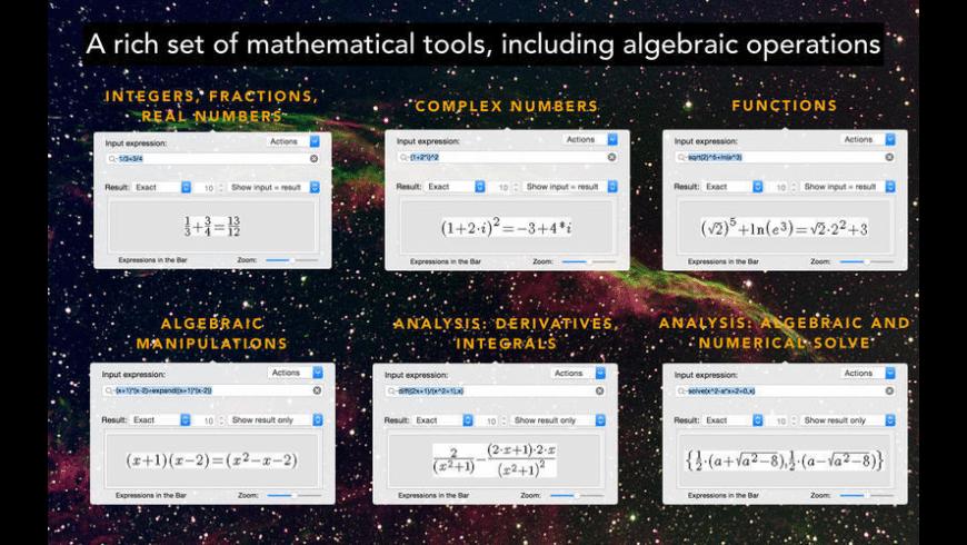 ExpressionsinBar for Mac - review, screenshots