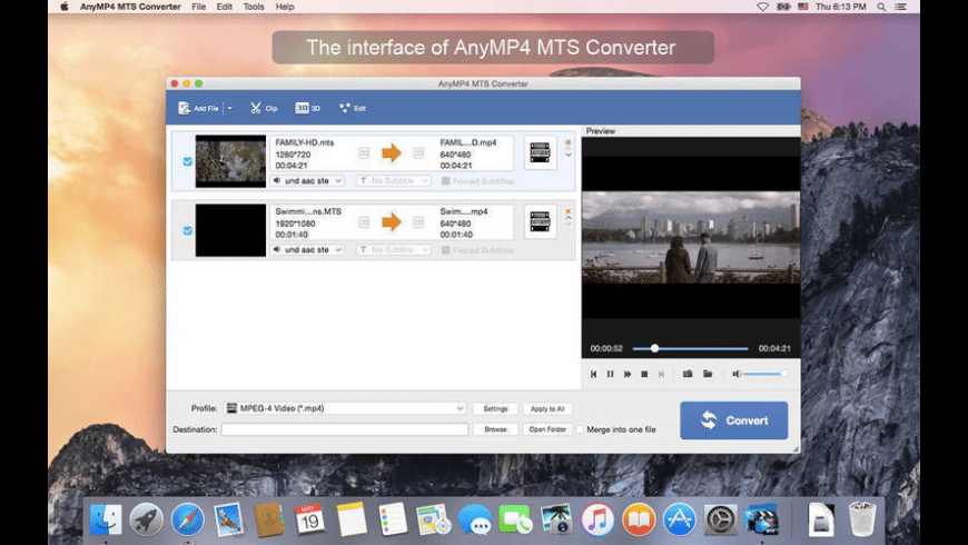 AnyMP4 MTS Converter for Mac - review, screenshots