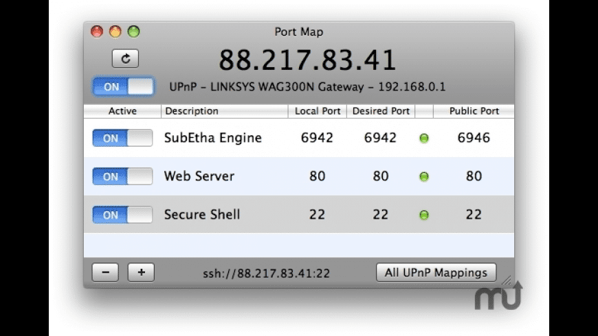 Port Map for Mac - review, screenshots