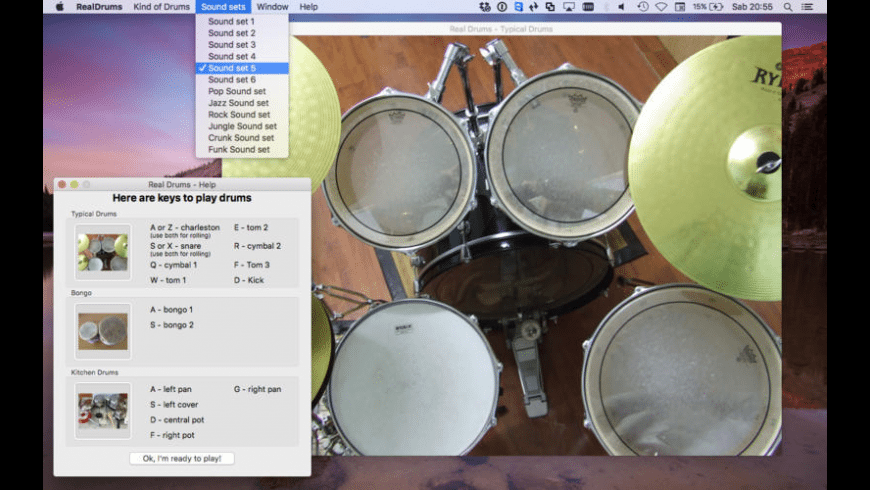 Real Drums for Mac - review, screenshots