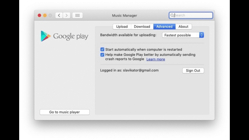 Google Music Manager for Mac - review, screenshots
