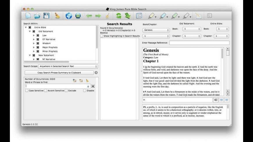 King James Pure Bible Search for Mac - review, screenshots