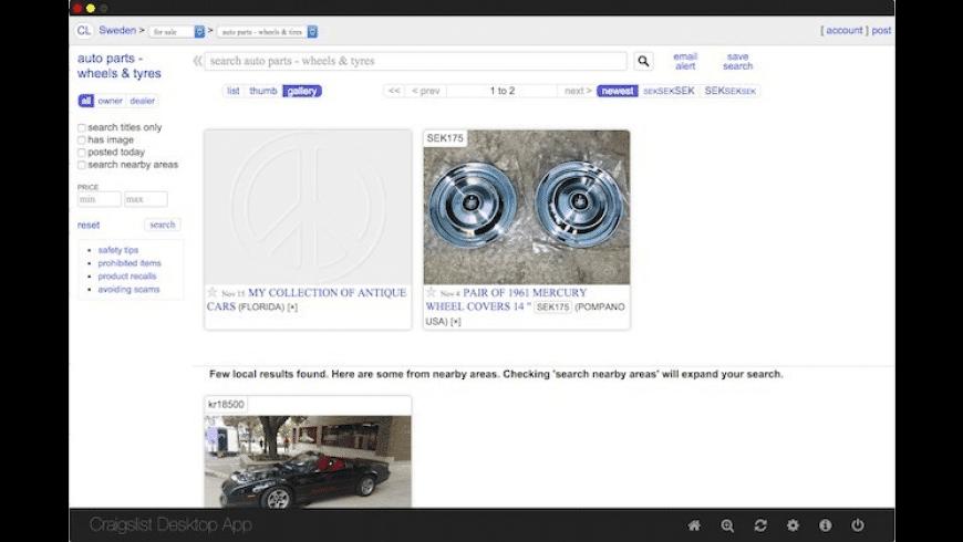 Craigslist Desktop for Mac - review, screenshots