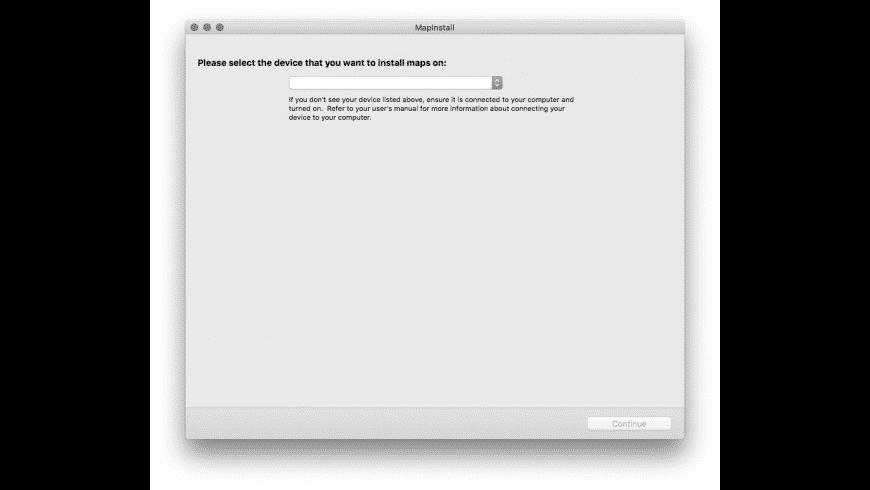 Garmin MapInstall for Mac - review, screenshots