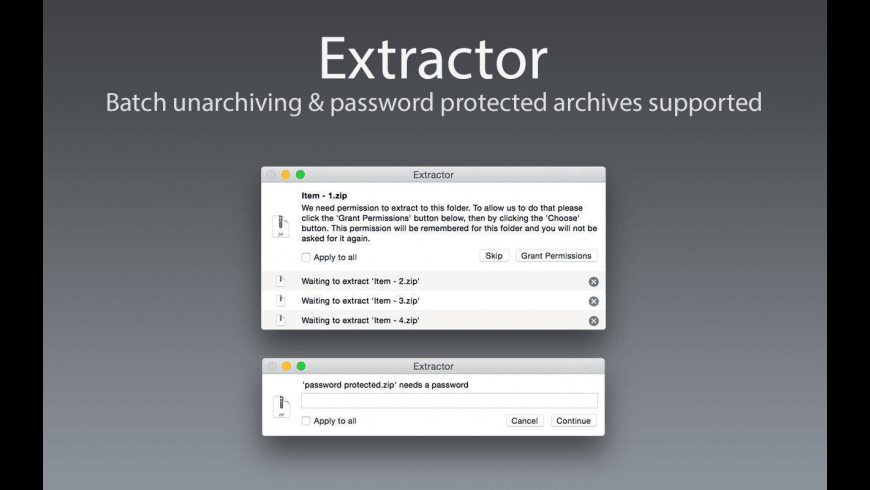 Extractor for Mac - review, screenshots