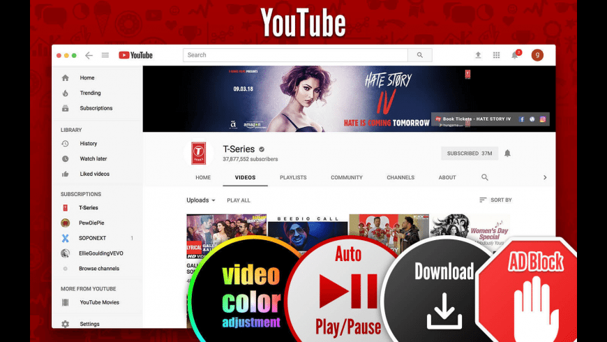 SopoTube for Youtube for Mac - review, screenshots