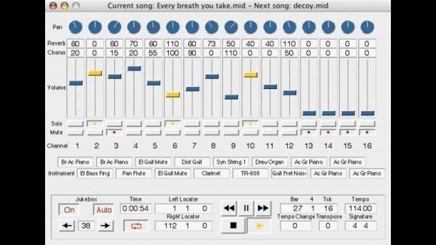 Sweet MIDI Player for Mac - review, screenshots