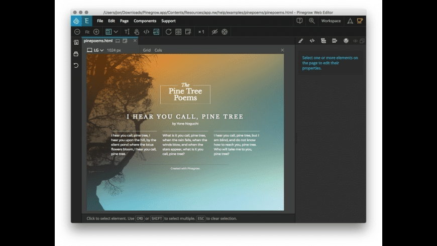 Pinegrow for Mac - review, screenshots