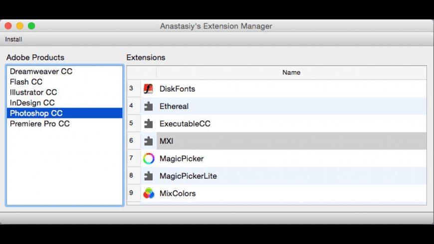 Anastasiy's Extension Manager for Mac - review, screenshots