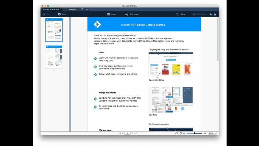 Movavi PDF Editor for Mac - review, screenshots