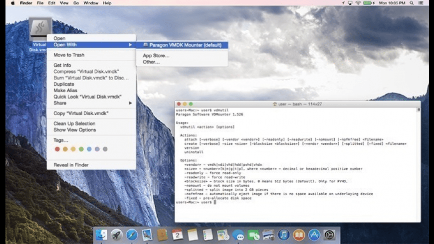 Paragon VMDK Mounter for Mac - review, screenshots