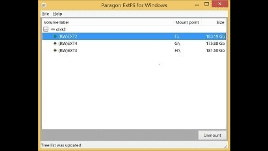 Linux File Systems for Windows for Mac - review, screenshots