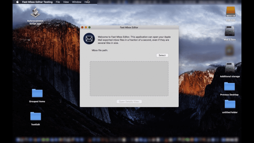 Fast Mbox Editor for Mac - review, screenshots