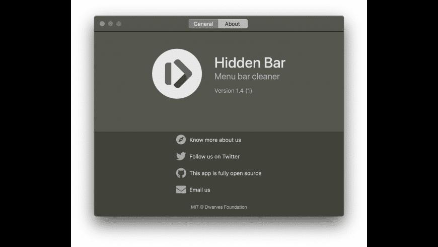 Hidden Bar for Mac - review, screenshots