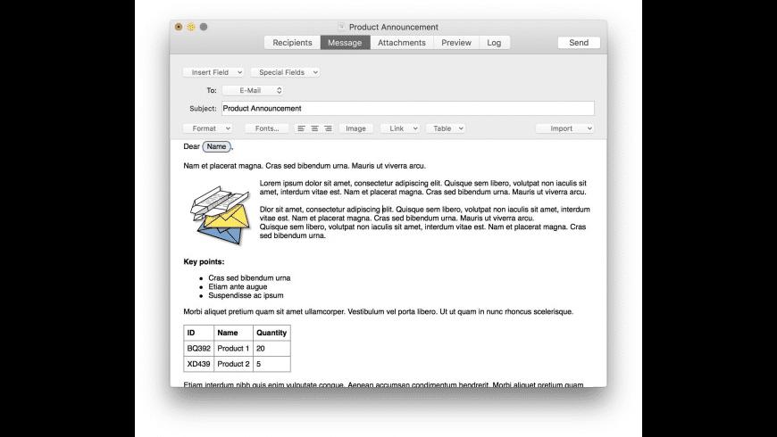SerialMailer for Mac - review, screenshots