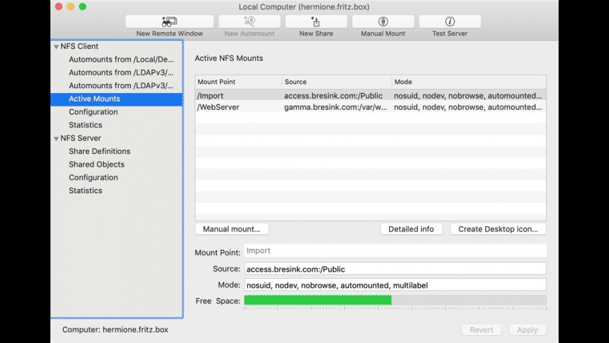 NFS Manager for Mac - review, screenshots