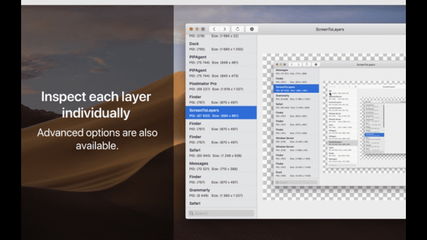 ScreenToLayers for Mac - review, screenshots