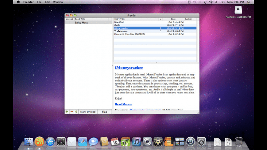 Freeder for Mac - review, screenshots