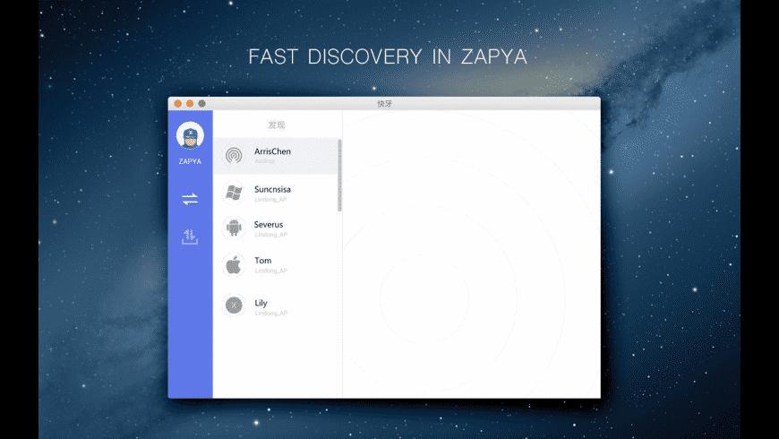 Zapya for Mac - review, screenshots