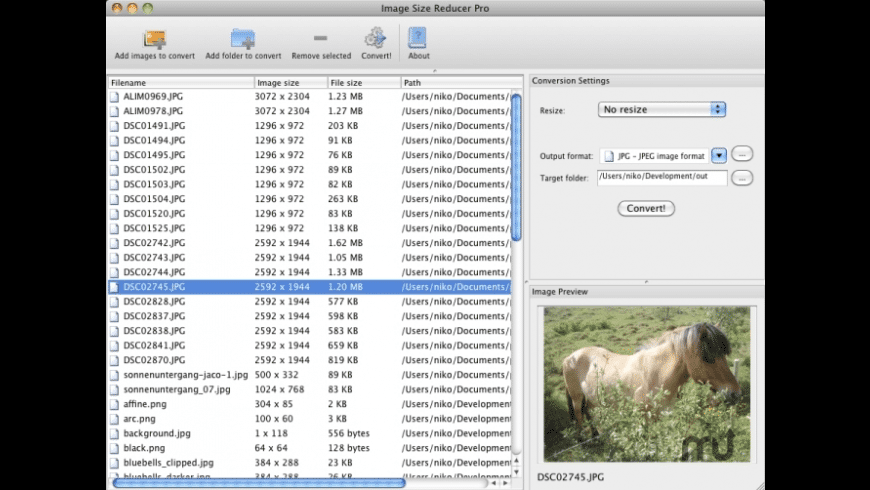 Image Size Reducer Pro for Mac - review, screenshots