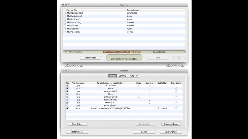 Sorterox for Mac - review, screenshots