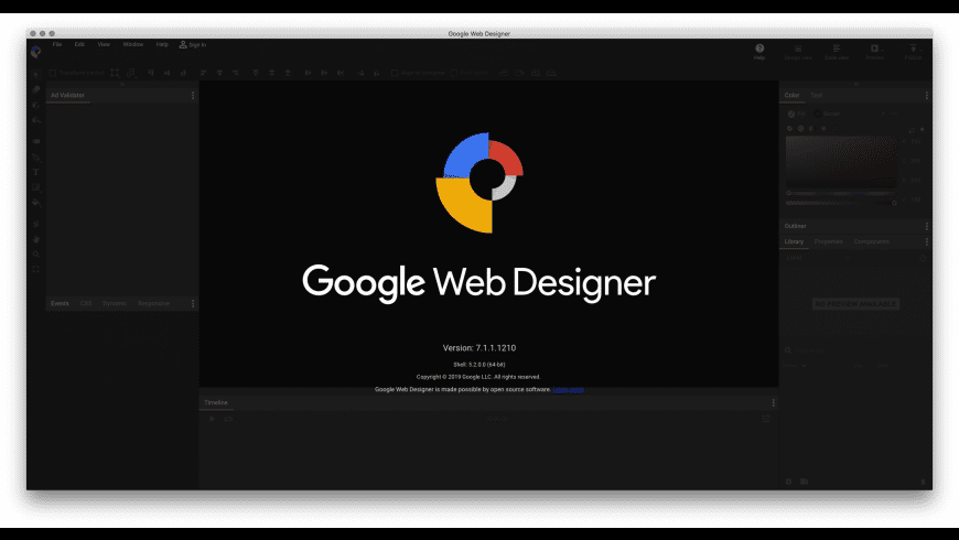 Google Web Designer for Mac - review, screenshots