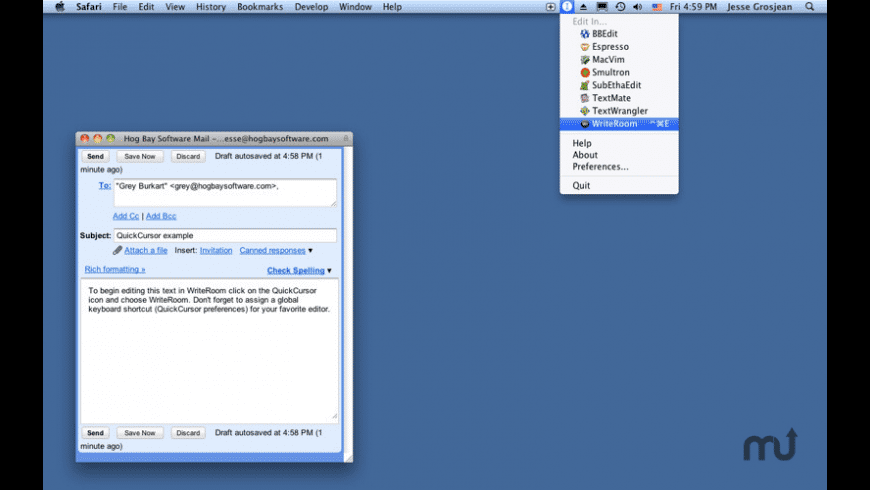 QuickCursor for Mac - review, screenshots