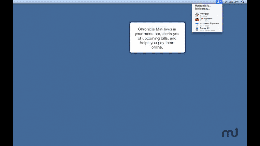 Chronicle Mini for Mac - review, screenshots