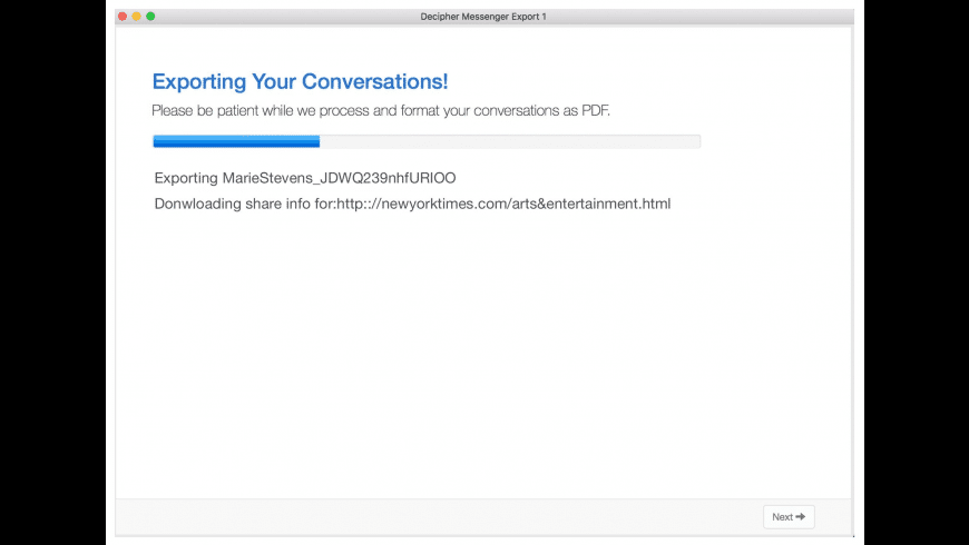 Decipher Messenger Export for Mac - review, screenshots