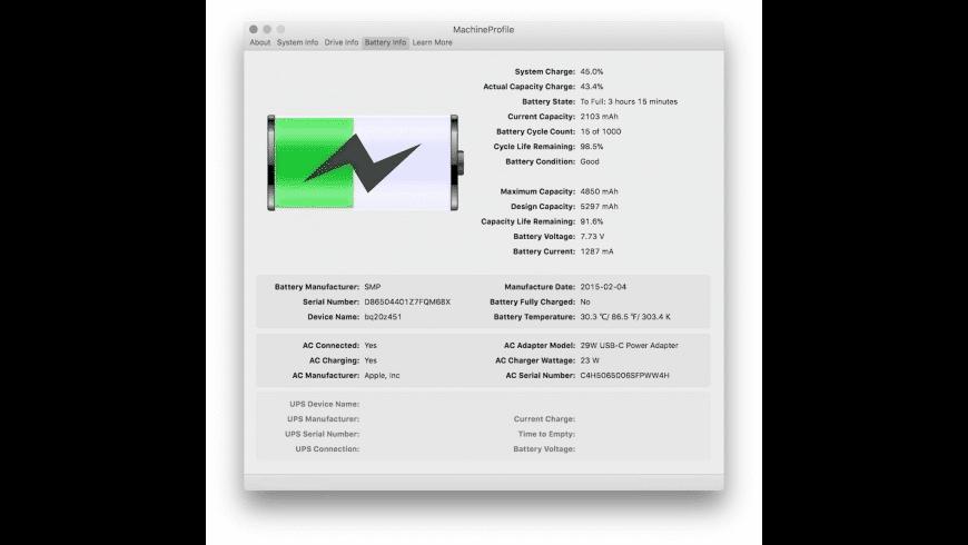 MachineProfile for Mac - review, screenshots