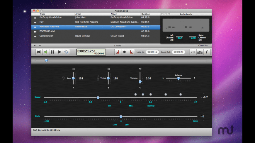 AudioSpeed for Mac - review, screenshots