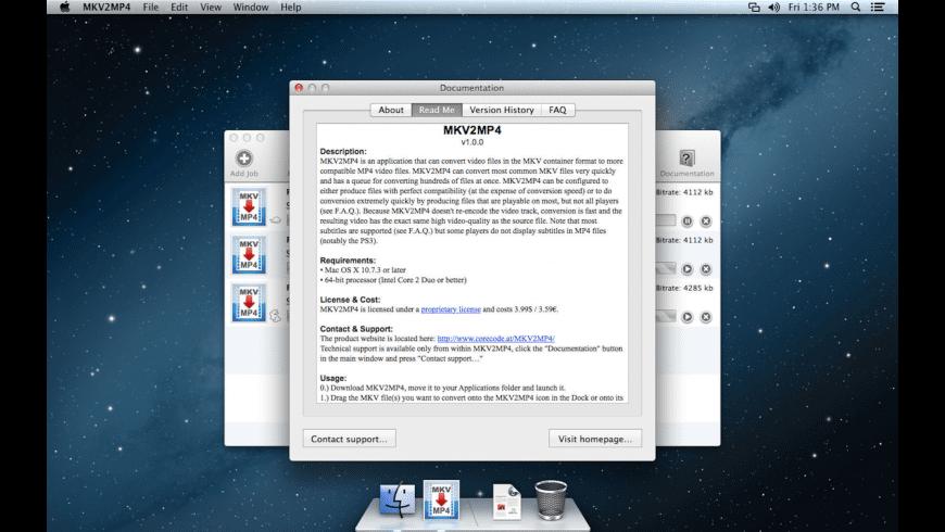 MKV2MP4 for Mac - review, screenshots