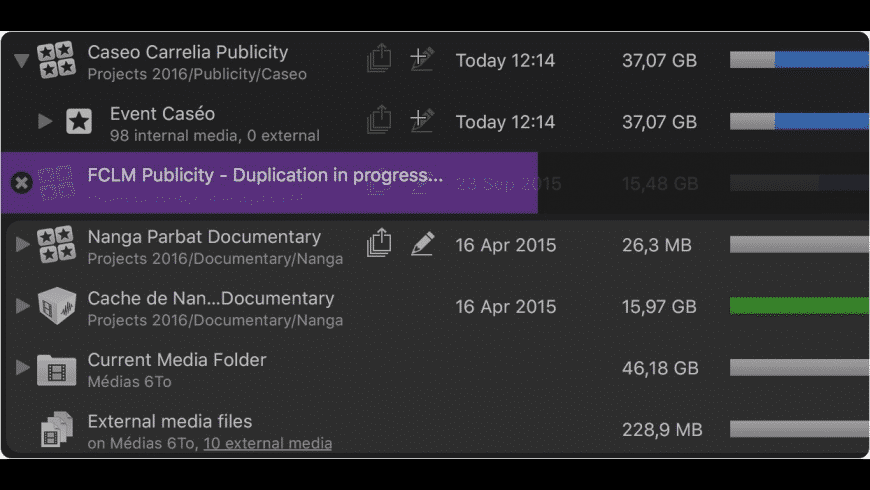 Final Cut Library Manager for Mac - review, screenshots