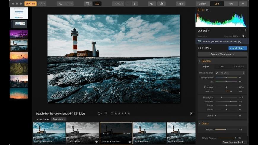 Luminar for Mac - review, screenshots