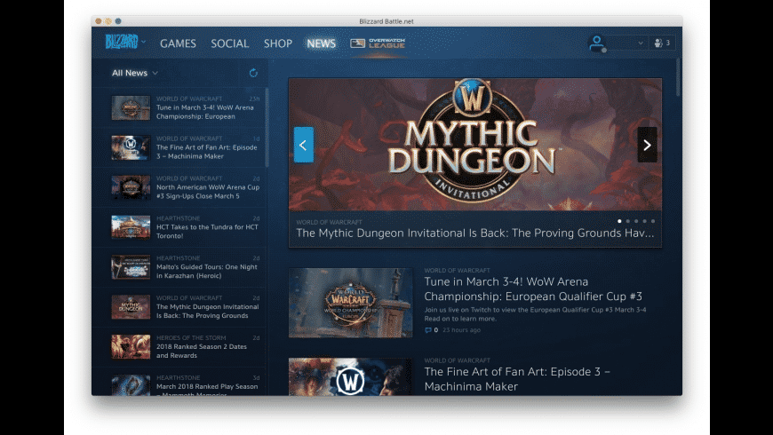 Battle.net for Mac - review, screenshots