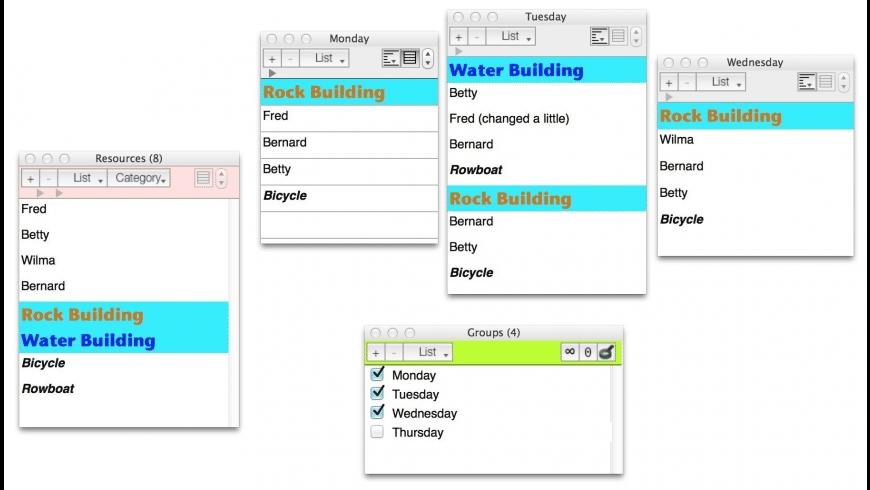 4LightData Lists for Mac - review, screenshots