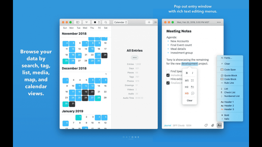Day One for Mac - review, screenshots