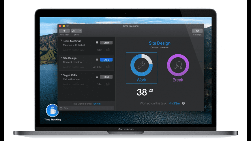 Time Tracking Pro for Mac - review, screenshots